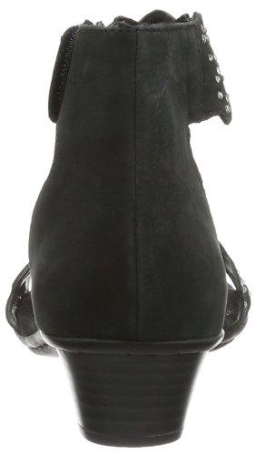 Rieker 68396, Scarpe con cinturino alla caviglia donna Nero (Schwarz (schwarz 00))