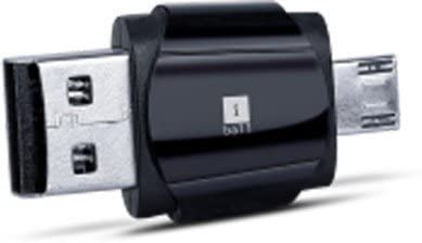 iBall Hybrid Dual USB 2 -in-1 Card Reader and Pen Drive (Black)