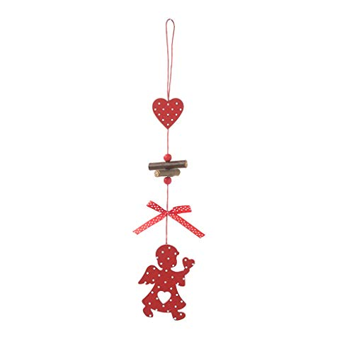 Dasongff Rot Weiß Gepunktete Weihnachten Anhänger Geschenkanhänger HERZ STERN BAUM Metall Blech Christbaumschmuck Hänger Geschenkanhänger Weihnachts-Deko