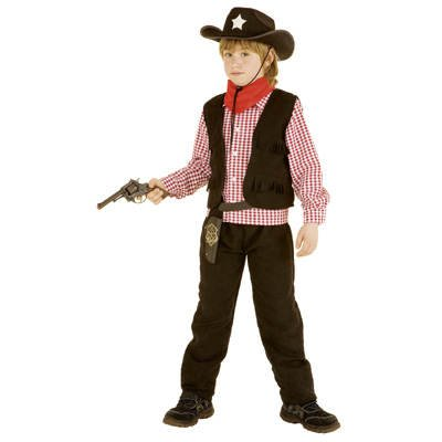 PARTY DISCOUNT Kinder-Kostüm Cowboy Lucky, Gr. 140, 7-9 Jahre (Lucky 7 Kostüm)