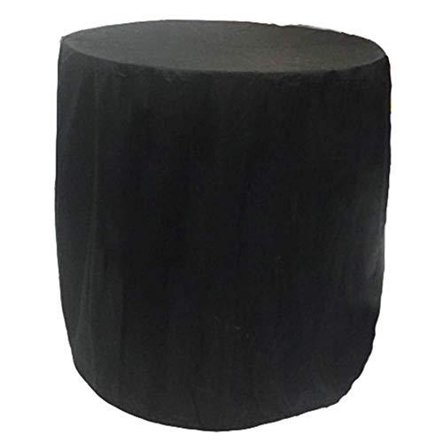 Waterproof Cloth Home Außenzelt Im Freien runde Ofenabdeckung Wasserdichte Staubabdeckung Regenabdeckung (Color : Black, Size : Diameter 70cm high 70cm)