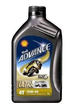 Shell 550027075Advance 4T Ultra 10W 40Moto Olio Motore
