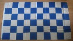 Bleu/blanc à carreaux Grand Drapeau 152 x 91 cm.