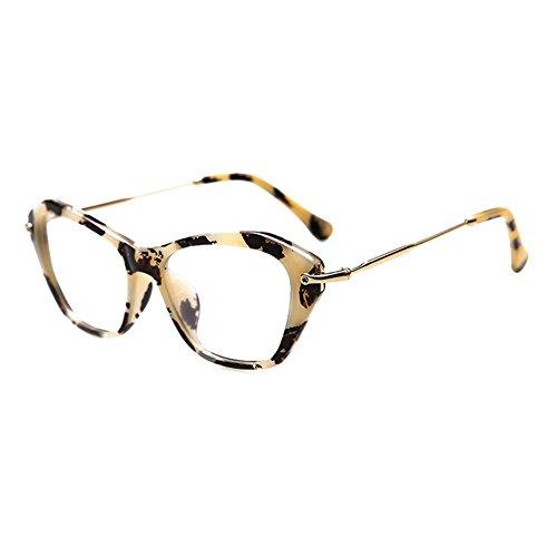 Hibote Männer Frauen Cat Eye Brille - Klare Linse Brillengestell - Mode Brillen Eyewear 122906