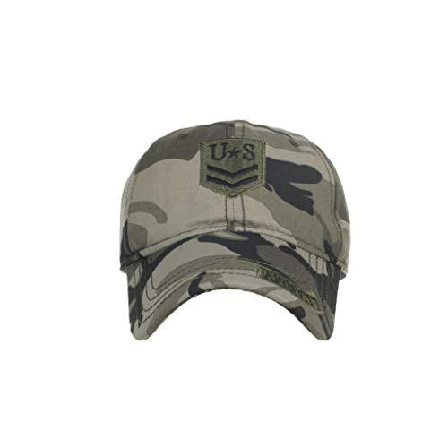 Syeytx Unisex US Outdoor hochwertige einfarbige Baseballmützen Verstellbarer Schatten Hut