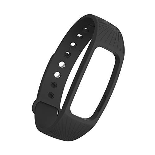 xMxDESiZ Wasserdichtes Armband mit Armband für ID 107 107 Plus HR Pro Lite Smart Armband für ID107 / Lite/HR/Pro Black
