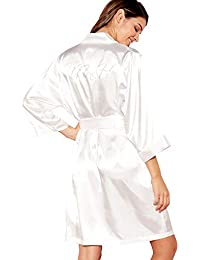 46362e234b Debenhams The Collection Womens Ivory  Mrs H  Satin Dressing Gown