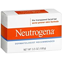 Neutrogena Transparent Facial Bar, Acne-Prone, 100ml, (6 Pack)