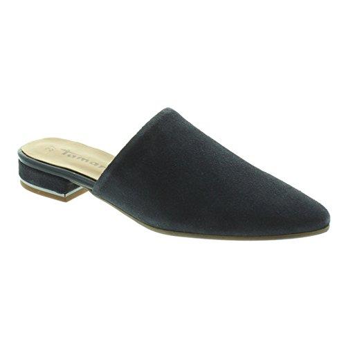 Tamaris Schuhe 1-1-27304-38 bequeme Damen Pantolette, Sandalen, Sommerschuhe für modebewusste Frau, blau (NAVY), EU 39 (Hose Navy Schuhe Schwarz)