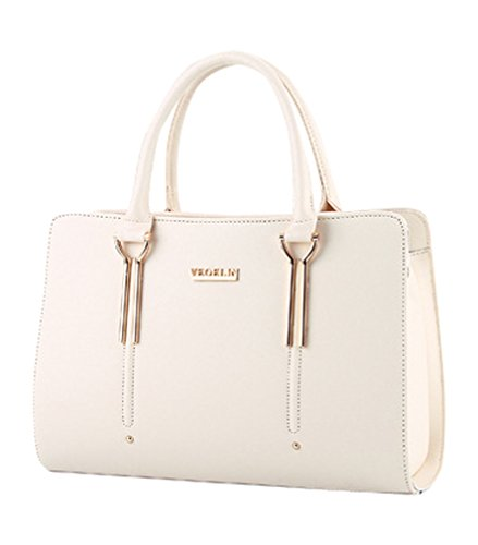 MissFox Borsa Shopping Bag Elegante Donna Vari Colori Beige