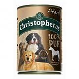 6 x Allco Christopherus Dose Pferd pur 400g, Hundefutter, Nassfutter