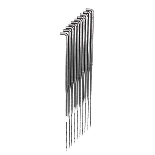 maDDma ® 10 Filznadel Stahl, Größe wählbar S-M-L Wolle Filz Werkzeug Filzen Nadeln, Größe:L 9.1cm (Filzen-maschinen-nadeln)