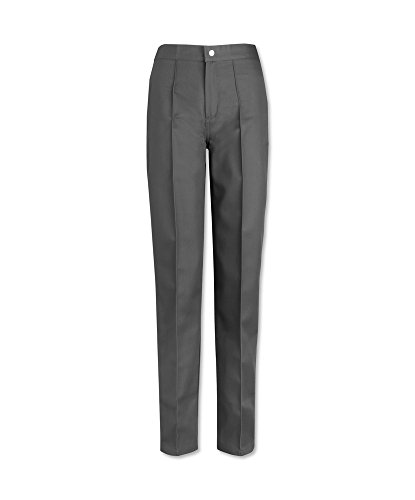Alexandra stc-w40gr-14t Damen Flache Front Hosen-, einfache, hoch, 67% Polyester/33% Baumwolle, Größe: 14, grau (Flache Front Hosen)
