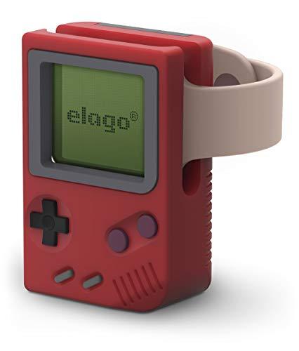 elago W5 Soporte para Apple Watch Serie 4 / Serie 3 / Serie 2 / Serie 1 / 44mm / 42mm / 40mm / 38mm [Patente Pendiente] (Rojo)