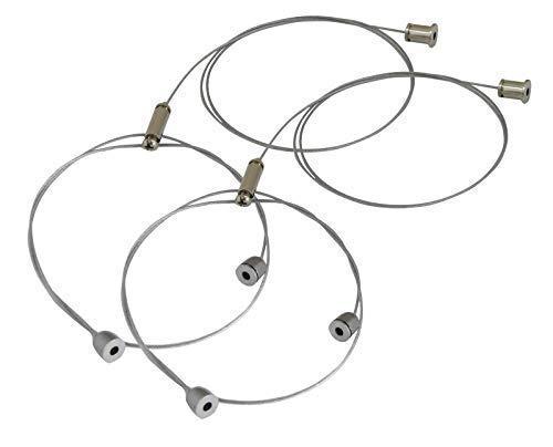 Seilabhängung Einbauset 1M Drahtseil Y Aufhängung Chrom für LED Zubehör, Panel, Lampen inkl. Schrauben, Dübel
