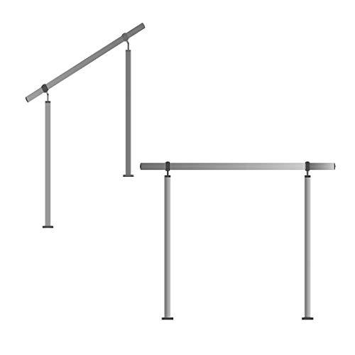 Edelstahl-Handlauf Geländer für Treppen Brüstung Balkon mit/ohne Querstreben (bis 6.0m inkl. 7 Pfosten ohne Querstange)