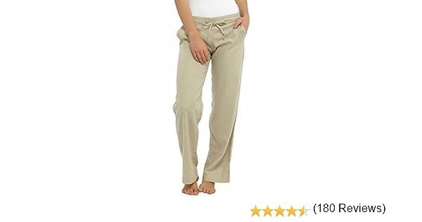 SUMMER Pantaloni Di Lino Bianco-Taglia 16