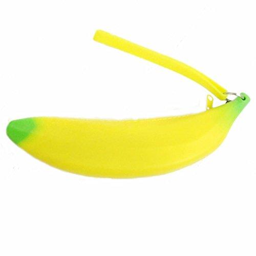 Trada Geldbörse, Unisex Männer Frauen Neuheit Silikon Portable Banana Coin Federtasche Handtasche Tasche Geldtasche Nette Weisemünzengeldbeutel Mappen Tragbar Beutel ()