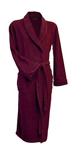 Lloyd Attree & Smith - Robe de Chambre en Maille Polaire - Homme - Bordeaux (XXL)