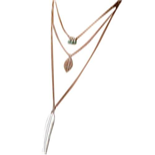 Longra Mujeres Multilayer Collar Pendiente Irregular Pendiente (Plata)
