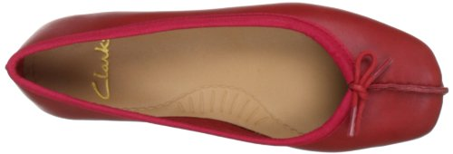 Clarks Freckle Ice, Ballerines femme Rouge (Red Leather)