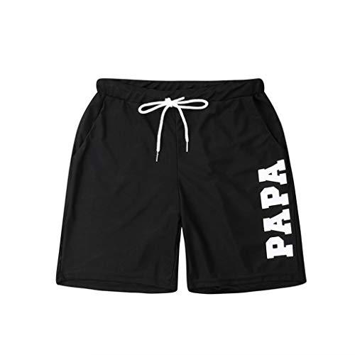 Sylar bañador Padre-Hijo Pantalones Cortos de Playa para Toda la Familia Moda Letras Estampado bañadores...
