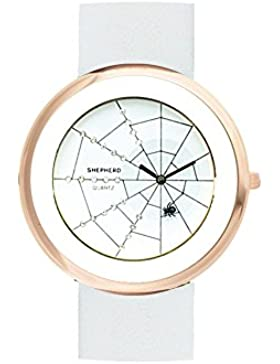 SHEPHERD Damen Armbanduhr (große Version) 50 mm Ø Quarz Spinne 15110 Spinnenuhr