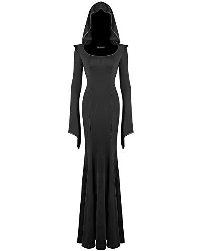 Punk Rave Damen Kleid schwarz schwarz Gr. XL-XXL: UK Größe Der Frauen 40-42, ()