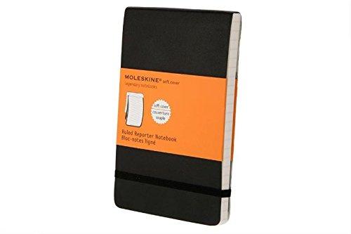 Moleskine Reporter-Notizblock Pocket, Softcover, liniert, schwarz