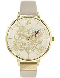 Sara Miller Chelsea Collection SA2006 - Reloj con Correa de Piel chapada en Oro