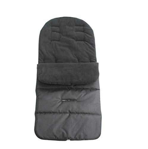 Azuo baby carrelli di tenere al caldo sacco a pelo inverno scopo generale copertura del piede addensare vento carrelli di cuscino - può fuoriuscire piedi, non può mancare piedi,black,s