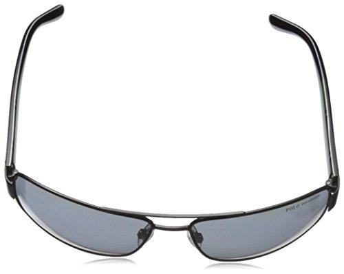 ... Polo Ralph Lauren Herren Sonnenbrille PH3087 Schwarz (Semi Shiny Black  926781)