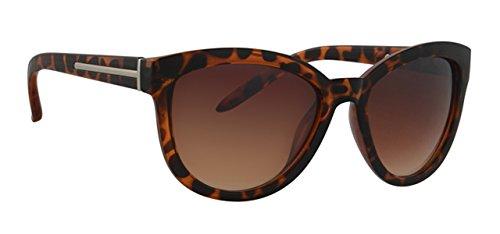 Sonnenbrille ULF548F1 Damen Brille Fassung braun marmoriert, Linse braun verlaufend