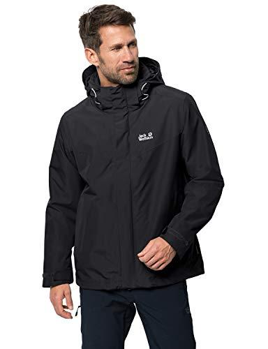 ganzjährige Outdoor Jacke für Herren, wasser-, winddichte & atmungsaktive Winterjacke für Herren,...
