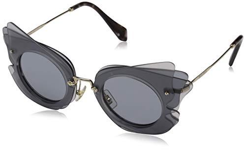 Miu Miu Damen 0MU02SS VA43C2 63 Sonnenbrille, Grau Light Grey
