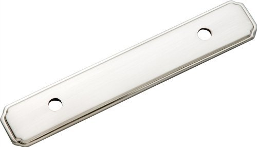 Belwith P513-Sn Backpl 3in Satin Nickel (Pack of 10) by Hickory Hardware - Belwith Satin Nickel 3