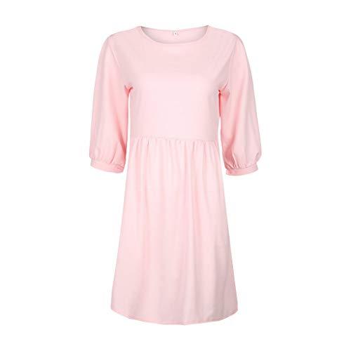 COCODE Frauen Hepburn-Stil äRmelloses Kleid Mit Print Mode Frauen Vintage V-Ausschnitt Abenddruck Party Prom Swing Dress