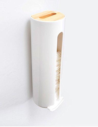 cosméticos Almacenamiento Soporte de Pared Mount algodón Pads Soporte, dispensador con Aperturas de fácil Acceso diarias Objetos [Kitchen]