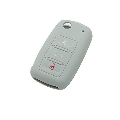 fassport-silicone-cover-skin-jacket-fit-for-volkswagen-seat-skoda-3-button-flip-remote-key-cv9800-gr