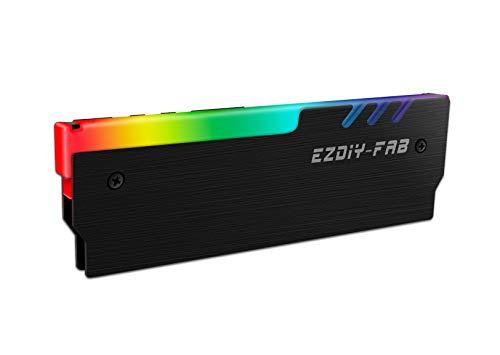 EZDIY-FAB RGB DDR Memoria RAM Refrigerador Enfriador Disipador de Radiación Enfriador para Juego DIY PC Overclocking Mod DDR3 DDR4 Negro-1pack