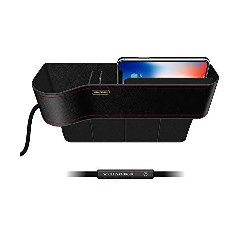 Mumuj Q7 Fast Wireless Charger, Kabellos KFZ Ladegerät Qi-Zertifiziert Auto Induktions Ladegerät Schnell Ladestation Box Halterung für iPhone X XR XS XS Max für Samsung Galaxy S9 usw