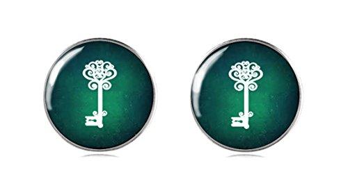 Tizi Jewellery 925 Sterling Silber Ohrringe Ohrstecker 12 mm für Damen und Mädchen Grüne (Opal Flügel Schwanz)