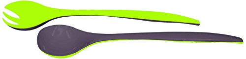 Zak Designs 2153-0420 Couverts à Salade Duo Stone/Vert 29 cm