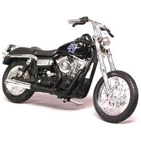 Harley Davidson Dyna Strada Bob (Chibs Telford 2006) Modellino Motocicletta da Sons Of Anarchy