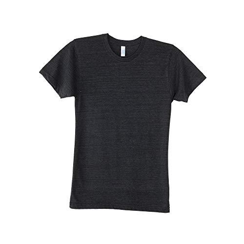 American Apparel Triblend TR401 Kurzarm-T-Shirt, blanko, AA006 Gr. XL, Tri-Black (American Apparel-track Shirt)