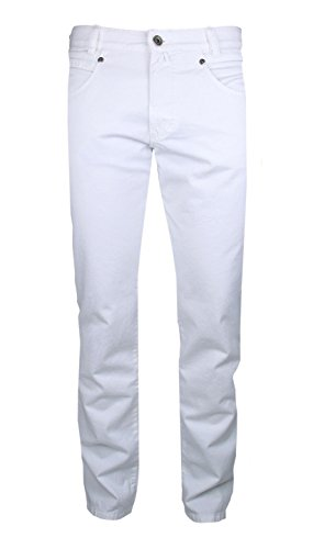 JOKER Hose | Freddy ( Straight Fit ) weiß Stretch-Gabardine