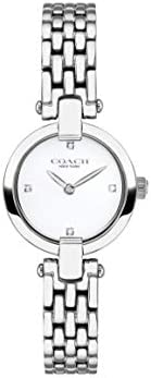 Coach Women'S White Dial Stainless Steel Watch - 1450
