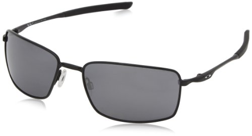 Oakley Sonnenbrille Square Wire, Pol Blk W/Blk Irid, One size, OO4075-01