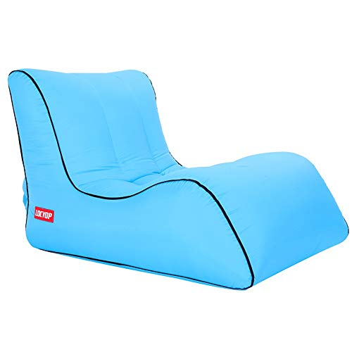 Ariesdy divano portatile e gonfiabile, divano per salotto all'aperto, sacco a pelo, ideale per rilassarsi, campeggio, spiaggia, pesca, bambini, feste