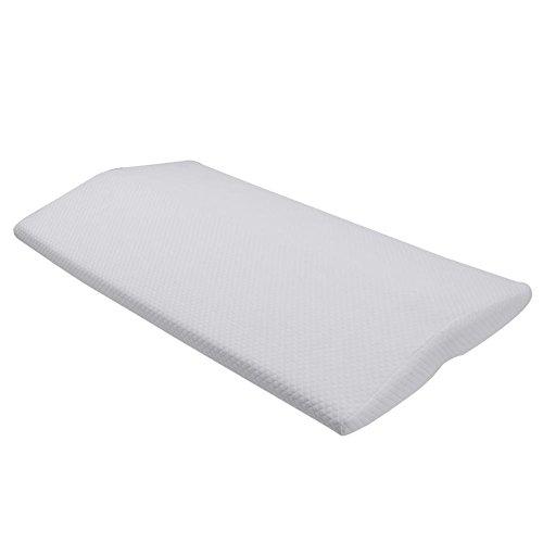 Bett Sleeping Keilkissen Memory Foam Taille Lordosenstütze Kissen Kissen Taille Foot Rest Kissen für unteren Rücken Hüfte Schmerzen Orthopädische Schwangerschaft, weiß -